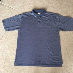 Tehama Clint Cobalt Blue Striped Golf Shirt-L
